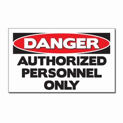 "sd007-10 - Vinyl Safety Decal 5""x3"" Danger, Safety Sticker, Safety Door Decal, Safety Door Sticker, Safety Label"