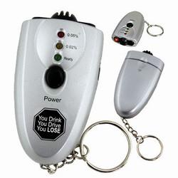 sh011 - Safety Keyring Alcohol Breath Tester w/flashlight, Safety Incentive, Safety Gift, Safety Promo Product, Safety Incentive, Safety Ideas, Safety Ad Specialities