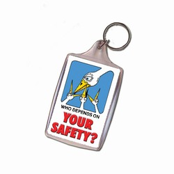 sh025-04 - Safety Handout Key Chain, Safety Incentive, Safety Gift, Safety Promo Product, Safety Incentive, Safety Ideas, Safety Ad Specialities