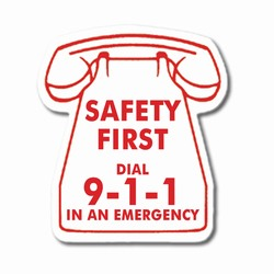 sh007 - Safety Awareness 911 Phone Magnet, Energy Conservation Handouts, Energy Conservation Gift, Energy Conservation Incentive
