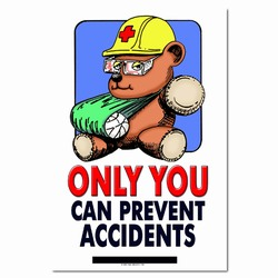 sp122 - Safety Awareness Poster, Safety Notice Poster, Safety Reminder Poster, Safety Placard, Safety Help Poster, Safety Notification Poster