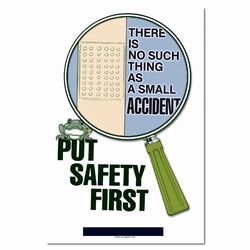 sp134 - Safety Awareness Poster, Safety Notice Poster, Safety Reminder Poster, Safety Placard, Safety Help Poster, Safety Notification Poster