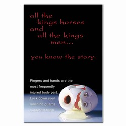 sp138 - Safety Awareness Poster, Safety Notice Poster, Safety Reminder Poster, Safety Placard, Safety Help Poster, Safety Notification Poster