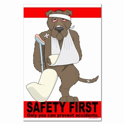 sp306 - Safety Awareness Poster, Safety Notice Poster, Safety Reminder Poster, Safety Placard, Safety Help Poster, Safety Notification Poster