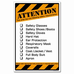 sp367 - Safety Awareness Poster, Safety Notice Poster, Safety Reminder Poster, Safety Placard, Safety Help Poster, Safety Notification Poster