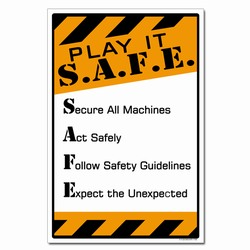 sp369- Safety Awareness Poster, Safety Notice Poster, Safety Reminder Poster, Safety Placard, Safety Help Poster, Safety Notification Poster