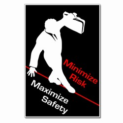 AI-sp393 - Maximize Safety Poster, Safety Notice Poster, Safety Reminder Poster, Safety Placard, Safety Help Poster, Safety Notification Poster