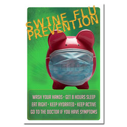 AI-sp415 - Swine Flu- H1N1 Prevention Poster, Swine Flu Poster, H1N1 Poster, Safety Poster, Flu Prevention Poster, Fight Flu