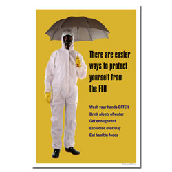 AI-sp418 - Flu Prevention Safety Poster, Safety Notice Poster, Safety Reminder Poster, Safety Placard, Safety Help Poster, Safety Notification Poster