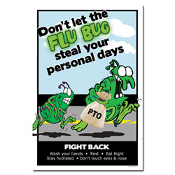 AI-sp422 - Flu Prevention Safety Poster, Flu Poster, Swine Flu Poster, Flu Bug