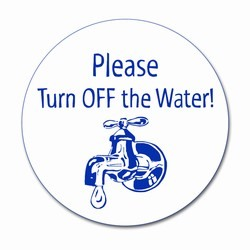 "wd002 - Water Conservation 3"" Decal, Water Conservation Handouts, Energy Conservation Gift, Energy Conservation Incentive"