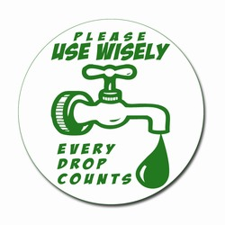 "wd002-02 - Water Conservation 3"" Decal, Water Conservation Handouts, Energy Conservation Gift, Energy Conservation Incentive"