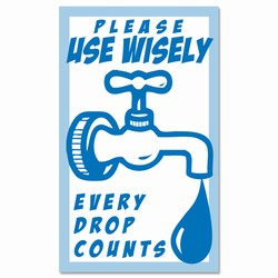 "wd003 - Water Conservation 3""x5"" Decal, Water Conservation Handouts, Energy Conservation Gift, Energy Conservation Incentive"