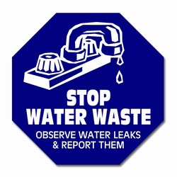 "wd006 - Water Conservation 3.5"" Vinyl Decal, Water Conservation Handouts, Energy Conservation Gift, Energy Conservation Incentive"