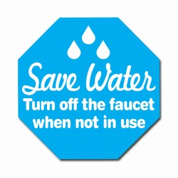 "wd011 - Water Conservation 2"" Decal, Water Conservation Handouts, Energy Conservation Gift, Energy Conservation Incentive"