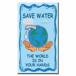 whmag002 - Water Conservation Magnet, Water Conservation Handouts, Energy Conservation Gift, Energy Conservation Incentive