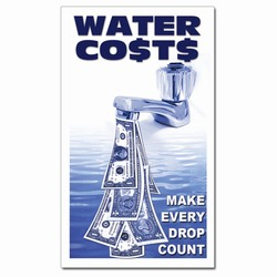 whmag004 - Water Conservation Magnet, Water Conservation Handouts, Energy Conservation Gift, Energy Conservation Incentive