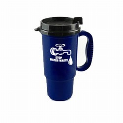 wh012 - Water Conservation 16oz LowRider Mug w/Slide Lid, Water Conservation Handouts, Energy Conservation Gift, Energy Conservation Incentive