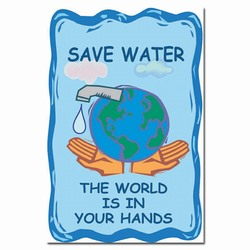 wp156 - Water Conservation Poster, Water quality poster, water conservation placard, water conservation sign, water quality sign, water conservation awareness