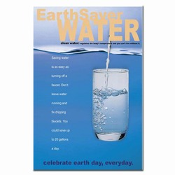 wp167 - Water Conservation Poster, Water quality poster, water conservation placard, water conservation sign, water quality sign, water conservation awareness
