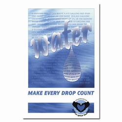 wp205 - Water Conservation Poster, Water quality poster, water conservation placard, water conservation sign, water quality sign, water conservation awareness