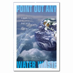 wp206 - Water Conservation Poster, Water quality poster, water conservation placard, water conservation sign, water quality sign, water conservation awareness