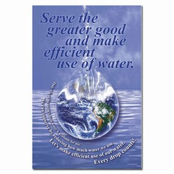 wp207 - Water Conservation Quality Poster, Water quality poster, water conservation placard, water conservation sign, water quality sign, water conservation awareness