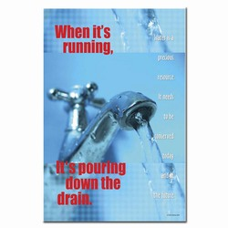 wp209 - Water Conservation Poster, Water quality poster, water conservation placard, water conservation sign, water quality sign, water conservation awareness
