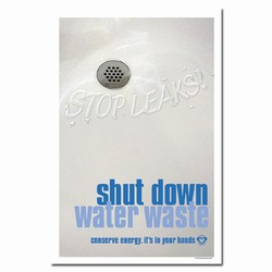 wp212 - Water Conservation Poster, Water quality poster, water conservation placard, water conservation sign, water quality sign, water conservation awareness