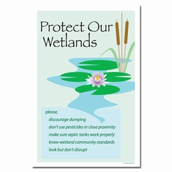 wp219 - Water Conservation Poster, Water quality poster, water conservation placard, water conservation sign, water quality sign, water conservation awareness