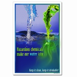 wp307 - Water Conservation Poster, Water quality poster, water conservation placard, water conservation sign, water quality sign, water conservation awareness