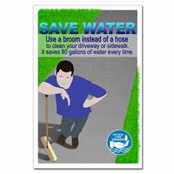 wp354 - Water Conservation Poster, Water quality poster, water conservation placard, water conservation sign, water quality sign, water conservation awareness
