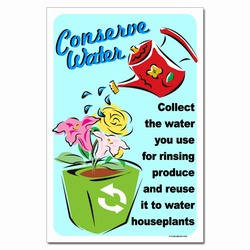 wp355 - Water Conservation Poster, Water quality poster, water conservation placard, water conservation sign, water quality sign, water conservation awareness