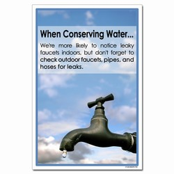 wp356 - Water Conservation Poster, Water quality poster, water conservation placard, water conservation sign, water quality sign, water conservation awareness