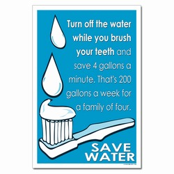 wp360 - Water Conservation Poster, Water quality poster, water conservation placard, water conservation sign, water quality sign, water conservation awareness