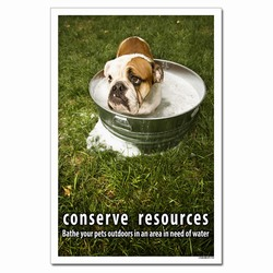 wp363- Water Conservation Poster, Water quality poster, water conservation placard, water conservation sign, water quality sign, water conservation awareness