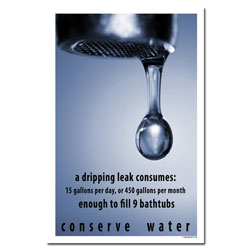 AI-wp364-2- Water Conservation Poster, Water quality poster, water conservation placard, water conservation sign, water quality sign, water conservation awareness