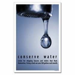 wp364- Water Conservation Poster, Water quality poster, water conservation placard, water conservation sign, water quality sign, water conservation awareness