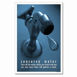 wp365- Water Conservation Poster, Water quality poster, water conservation placard, water conservation sign, water quality sign, water conservation awareness