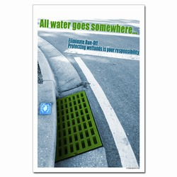 wp366- Water Conservation Poster, Water quality poster, water conservation placard, water conservation sign, water quality sign, water conservation awareness