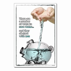 wp397- Water Conservation Poster, Water quality poster, water conservation placard, water conservation sign, water quality sign, water conservation awareness