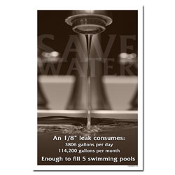 wp431- Water Conservation Poster, Water quality poster, water conservation placard, water conservation sign, water quality sign, water conservation awareness