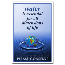 AI-wp426 - Water is Essential - Water Conservation Poster, Water conservation poster, Water quality poster, water conservation placard, water conservation sign, water quality sign, water conservation awareness