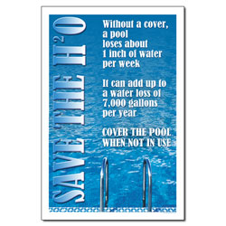 AI-wp427 - Pool Water Conservation - Water Conservation Poster, Water conservation poster, Water quality poster, water conservation placard, water conservation sign, water quality sign, water conservation awareness