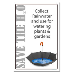 AI-wp428 - Save H2O - Water Conservation Poster, Water conservation poster, Water quality poster, water conservation placard, water conservation sign, water quality sign, water conservation awareness