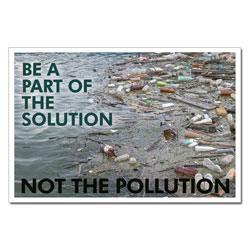 AI-wp436 - Be a Part of the Solution - Water Conservation Poster, Water quality poster, water clean, water conservation sign, water quality sign, water conservation awareness