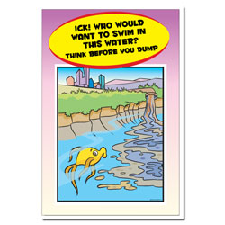 AI-wp441 - Water Pollution Posterr - Water Conservation Poster, Water quality poster, water clean, water conservation sign, water quality sign, water conservation awareness