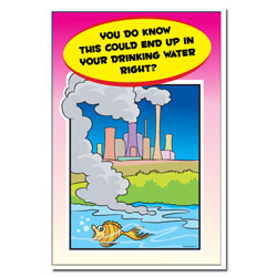 AI-wp444 - Water Pollution Posterr - Water Conservation Poster, Water quality poster, water clean, water conservation sign, water quality sign, water conservation awareness