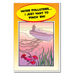 AI-wp445 - Water Pollution Posterr - Water Conservation Poster, Water quality poster, water clean, water conservation sign, water quality sign, water conservation awareness