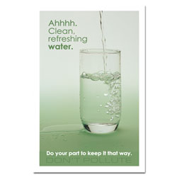 wp512 - Water Conservation Poster, Water quality poster, water conservation placard, water conservation sign, water quality sign, water conservation awareness